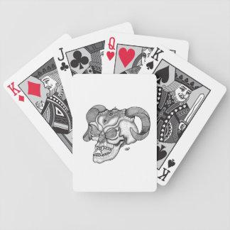 Schädel-Teufelkopf Schwarzweiss-Entwurf Bicycle Spielkarten