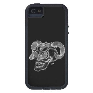 Schädel-Teufelkopf Schwarzweiss-Entwurf Tough Xtreme iPhone 5 Hülle