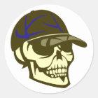 Schädel Totenkopf Kappe skull cap Runder Aufkleber