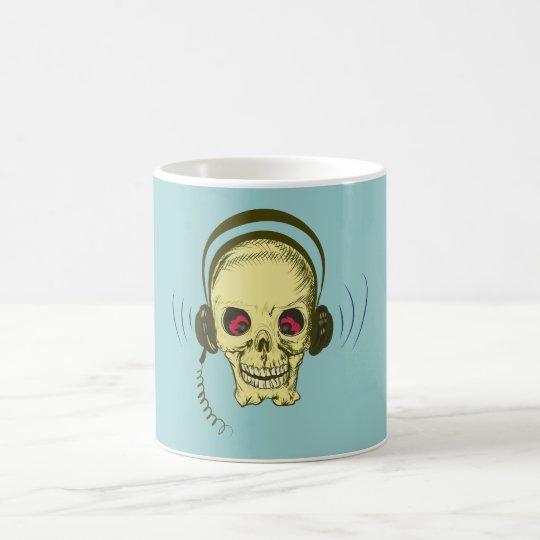 Schädel Totenkopf Kopfhörer skull earphones Kaffeetasse