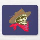 Schädel Totenkopf skull cowboy Mousepad