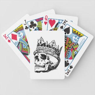 Schädel-tragende Krone, König Bicycle Spielkarten