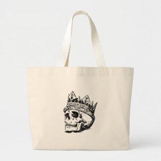 Schädel-tragende Krone, König Jumbo Stoffbeutel