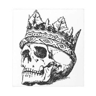 Schädel-tragende Krone, König Notizblock
