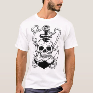 Schädel u. Anker T-Shirt