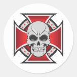 Schädel-u. Eisen-Kreuz: Vektorzeichnen: Stickers