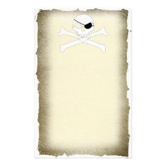 Schädel u. gekreuzte Knochen Briefpapier