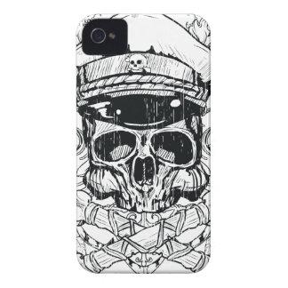 Schädel u. gekreuzte Knochen Metal PunkiPhone 4 Ka iPhone 4 Cover