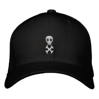 Schädel u. gekreuzte Knochen stickten Hut Bestickte Baseballkappe