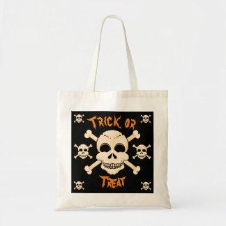 Schädel-u. Knochen-Halloween-Taschen-Tasche Tragetasche