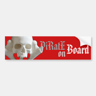 Schädel-u. Knochen-Piraten-Skeleton Autoaufkleber