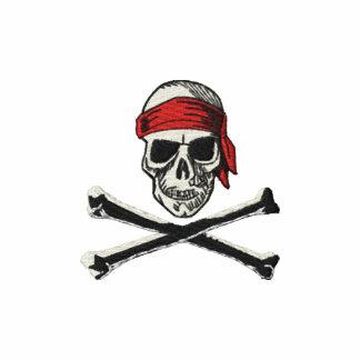 Schädel- u. Knochen-Piratenlogo mit Bandana