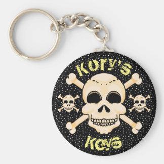 Schädel u. Knochen-Schlüsselkette Schlüsselanhänger
