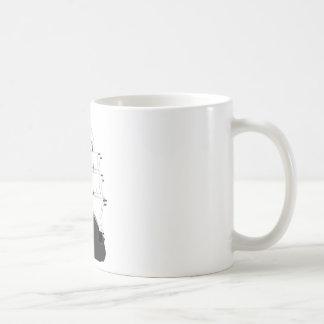 Schädel-u. Piraten-Schiff Kaffeetasse