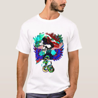 Schädel-u. Schlangen-Shirt T-Shirt