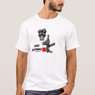 Schädel und AK 47 UDSSR Spetsnaz schwärzen das T-Shirt