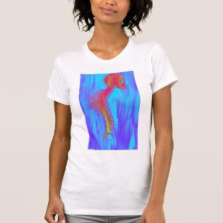 Schädel und Dorn mit Stammes- Widerhaken-Indiglo T-Shirt