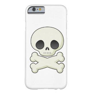 Schädel und gekreuzte Knochen emo kawaii niedliche Barely There iPhone 6 Hülle