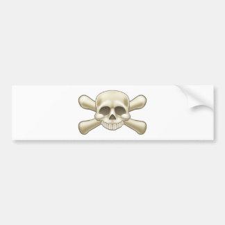 Schädel-und Knochen-Piraten-Cartoon Autoaufkleber