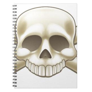 Schädel-und Knochen-Piraten-Cartoon Notizblock