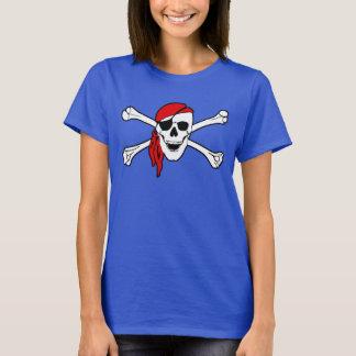 Schädel und Knochen-Piratenflagge T-Shirt