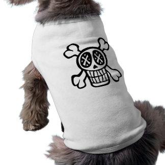 Schädel- und Knochenhaustier-Shirt Top