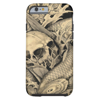 Schädel und Koi Tough iPhone 6 Hülle