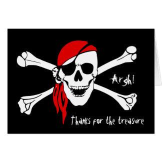 Schädel-und Kreuz-Knochen danken Ihnen Karte