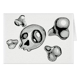 Schädel-und Kreuz-Knochen Karte