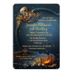 Schädel-und Kürbis-Halloween-Geburtstags-Party Einladung