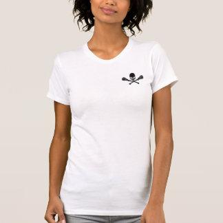 Schädel und Lacrosse-Knochen-T - Shirt