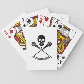 Schädel-und Lacrosse-Stöcke Spielkarten
