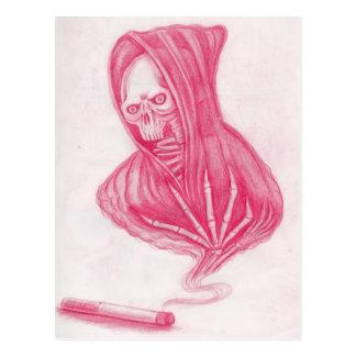 Schädel und Rauch Postkarte