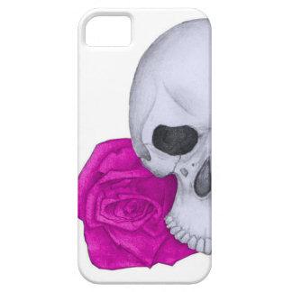 Schädel und rosa Rosen Etui Fürs iPhone 5