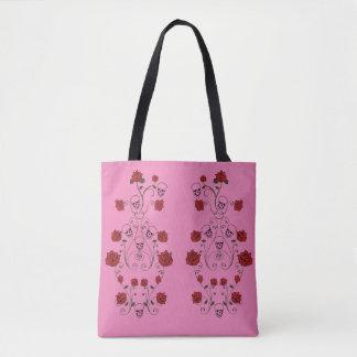 Schädel-und Rosen-Geldbeutel-Taschen-Tasche Tasche