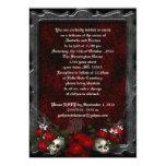 Schädel und Rosen Goth Hochzeit 12,7 X 17,8 Cm Einladungskarte