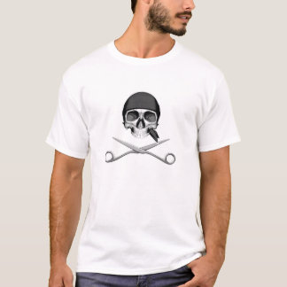 Schädel und Scheren T-Shirt