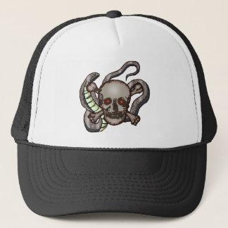 Schädel und Schlangen-Hut Truckerkappe