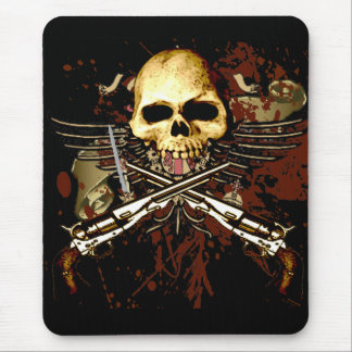 Schädel und Sixshooters Mousepads