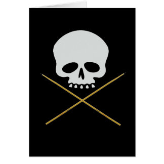 Schädel-und Trommelstock-gekreuzte Knochen Karte
