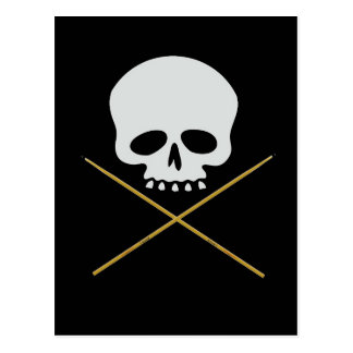 Schädel-und Trommelstock-gekreuzte Knochen Postkarte