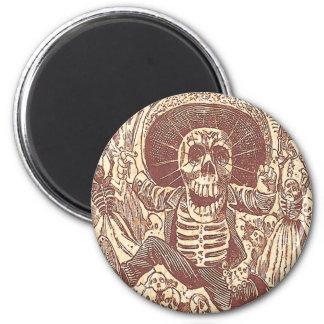 Schädel von Oaxaca, La Calavera Oaxaqueña Runder Magnet 5,7 Cm