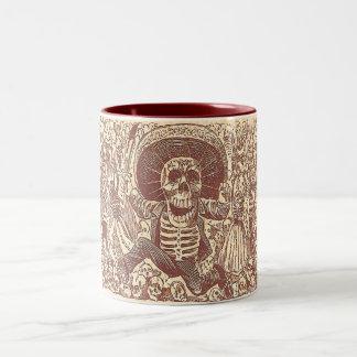 Schädel von Oaxaca, La Calavera Oaxaqueña Zweifarbige Tasse