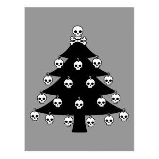 Schädel-Weihnachtsbaum Postkarte