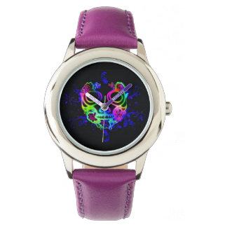 Schädelentwurf Armbanduhr
