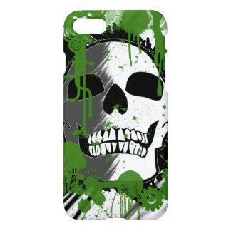 Schädelkopf mit Grün beschmutzt Kunst-Graffiti iPhone 8/7 Hülle