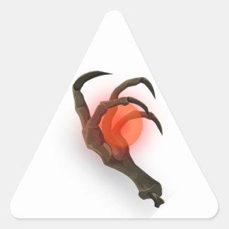 Schädelkugel Dreieckiger Aufkleber