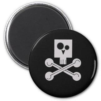 Schädelmagnet Runder Magnet 5,7 Cm