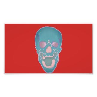 Schädelmalerei Fotodruck