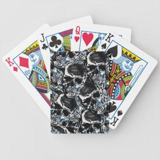 Schädelmuster Bicycle Spielkarten